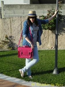 Vero y satchel bag rosa fluor