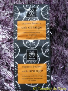 Mascarilla revitalizante de Naranja