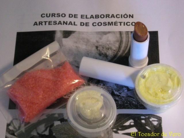 Muestras curso elaboracion artesanal cosmeticos