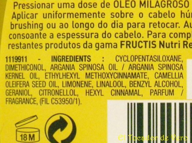 Aceite milagroso de Garnier 2