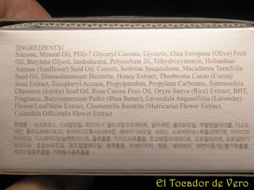 Ingredientes Exfoliante sweet honey sugar skin79