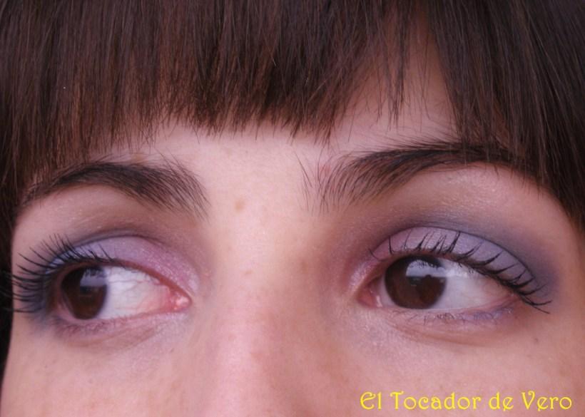 Maquillaje lila-azul NYX 1