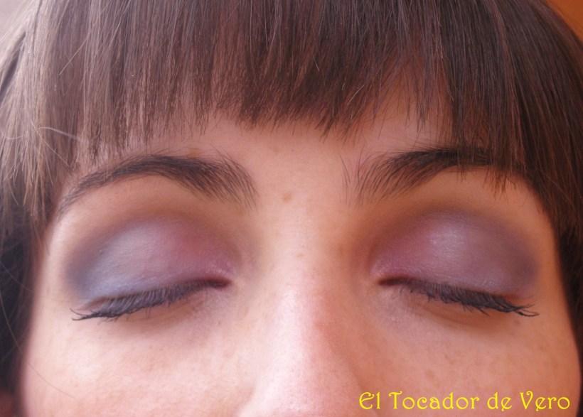 Maquillaje lila-azul NYX 3