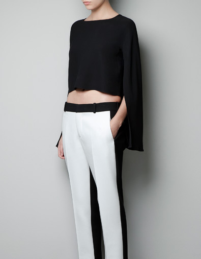 CAmiseta a medio hacer de Zara 1