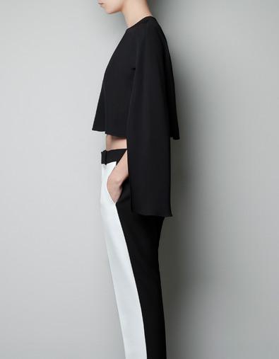 CAmiseta a medio hacer de Zara 3