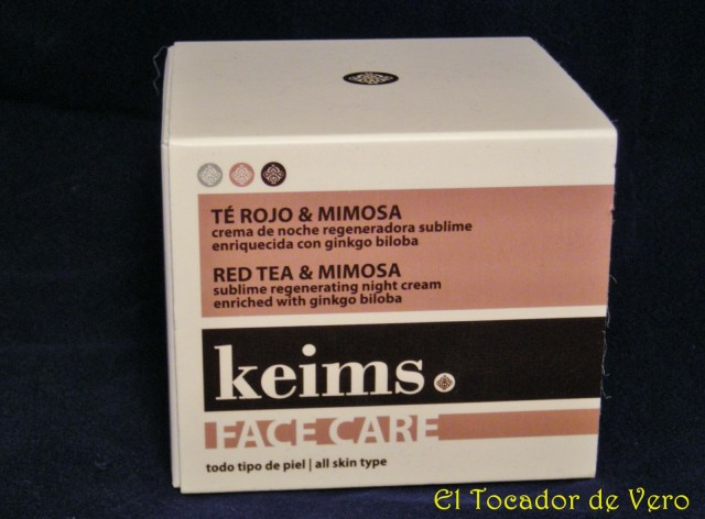 Crema de te rojo y mimosa de keims