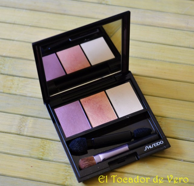 Trio de sombras Luminizing Satin Eye Color Trio RD299 Beach Grass de Shiseido