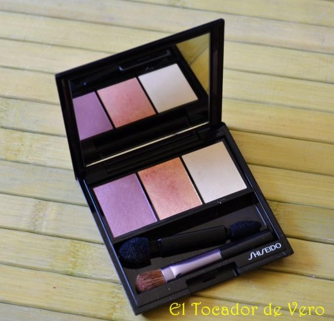 Trio de sombras Luminizing Satin Eye Color Trio RD299 Beach Grass de Shiseido
