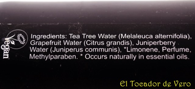 Tea tree water ingredientes