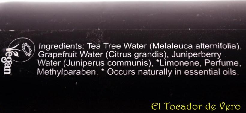 Tea tree water ingredientes