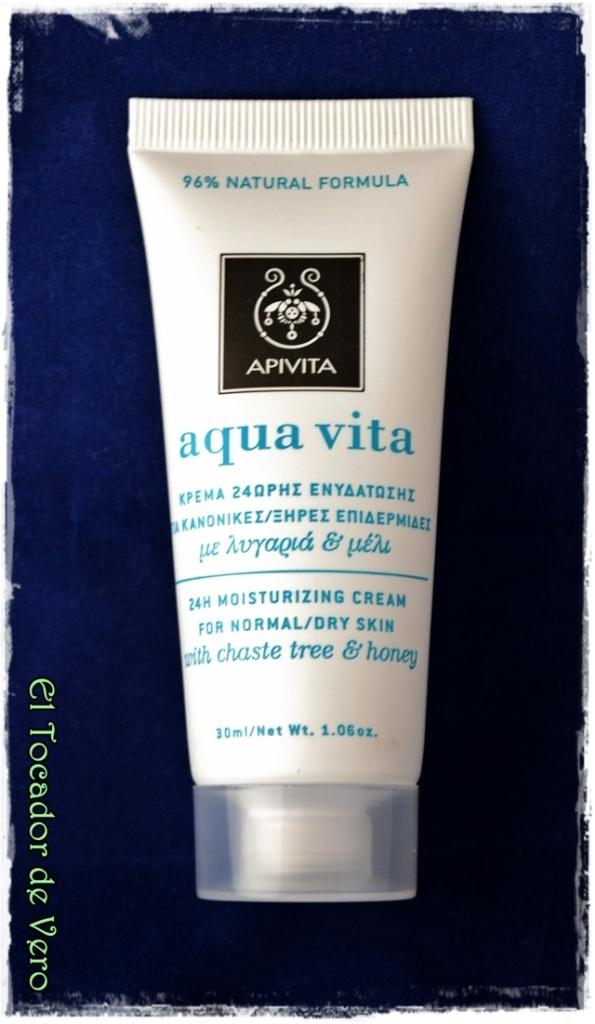 "Hidratante ""Aqua Vita"" de Apivita para pieles normales a secas"