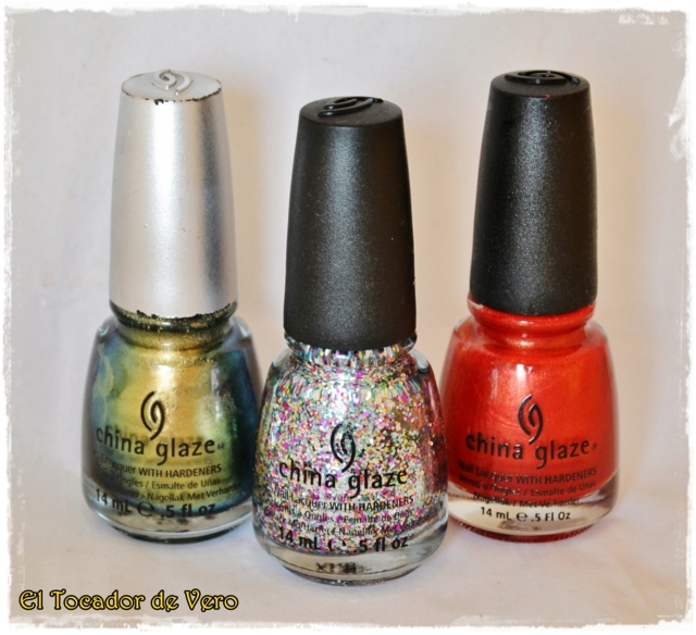 Rare and Radiant, Pizzazz y Red Stallion de China Glaze