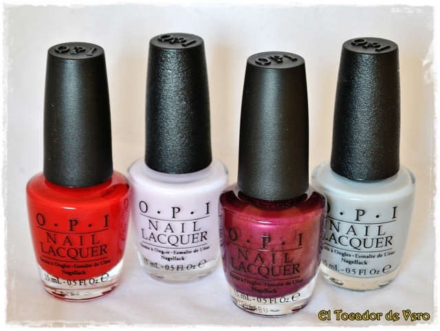 The Thrill of Brazil, Care to Danse?, Diva of Geneva y My Pointe Exactly de OPI