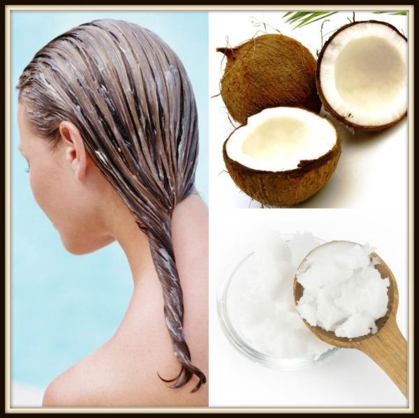 aceite de coco  cabello para el cabello
