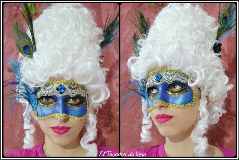 mascaras venecianas Beauty Lab Night 2014 pavo real 1