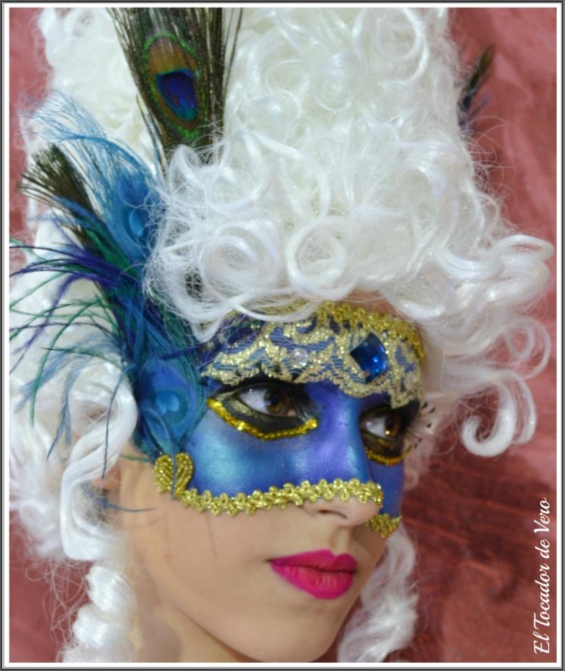 mascaras venecianas Beauty Lab Night 2014 pavo real 2