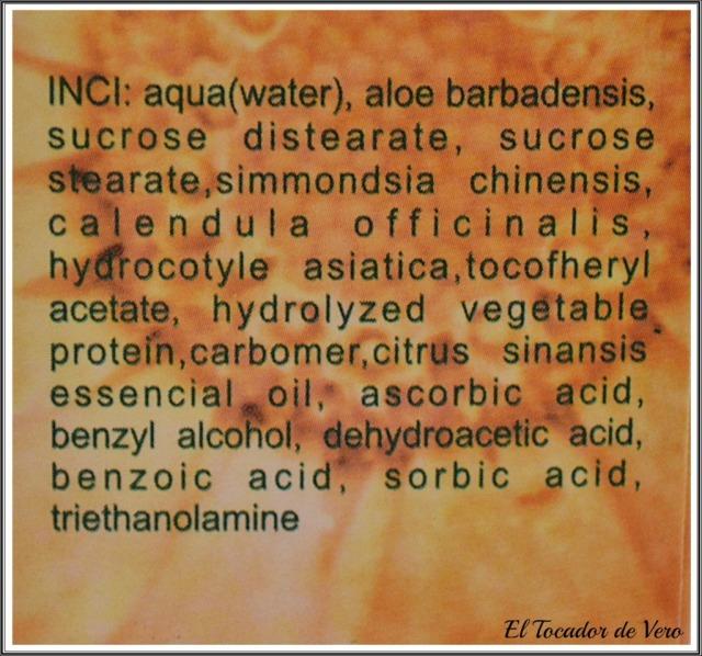 nutrialoe Natur Nua ingredientes