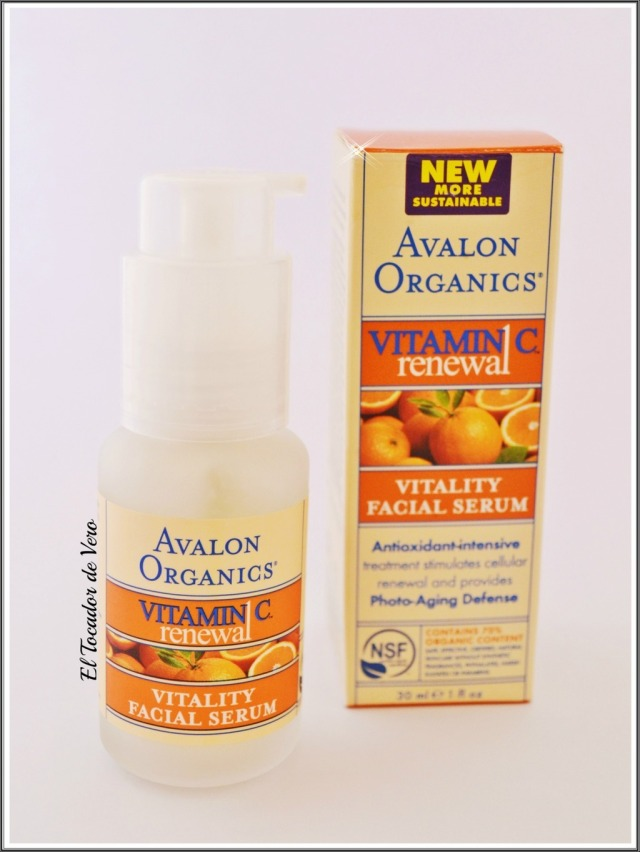 serum vitamina c renewal avalon organics