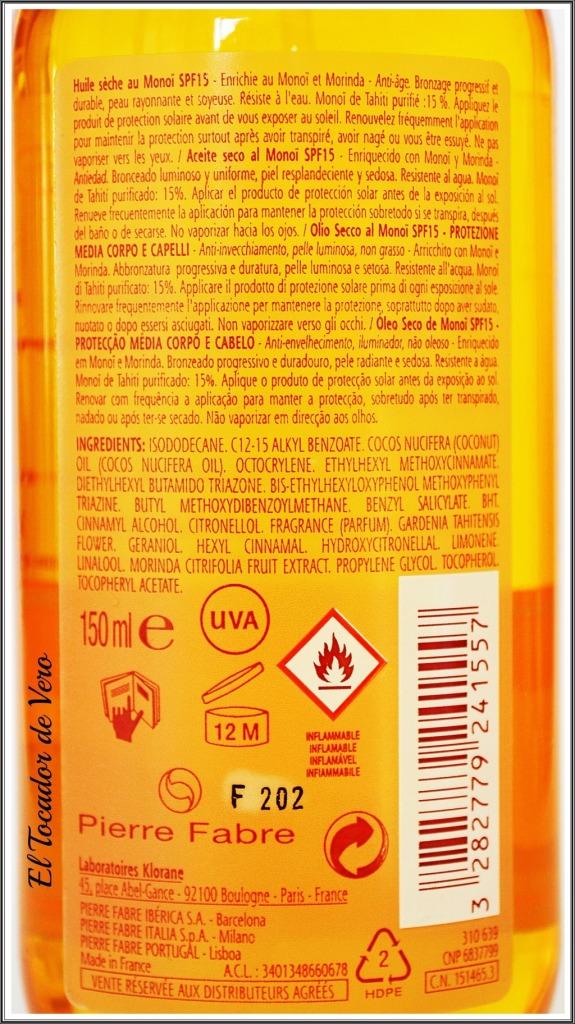 aceite seco monoi polysianes klorane 2
