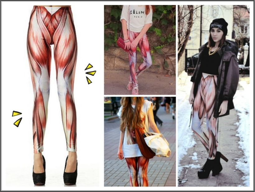 collage leggings musculo