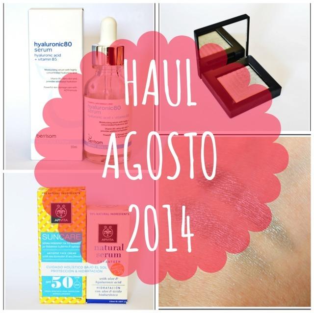 Haul Agosto 2014: cosmética corena, Nars y Apivita