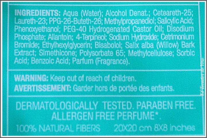 toallitas-purifying-cleanser-comodynes-ingredientes eltocadordevero