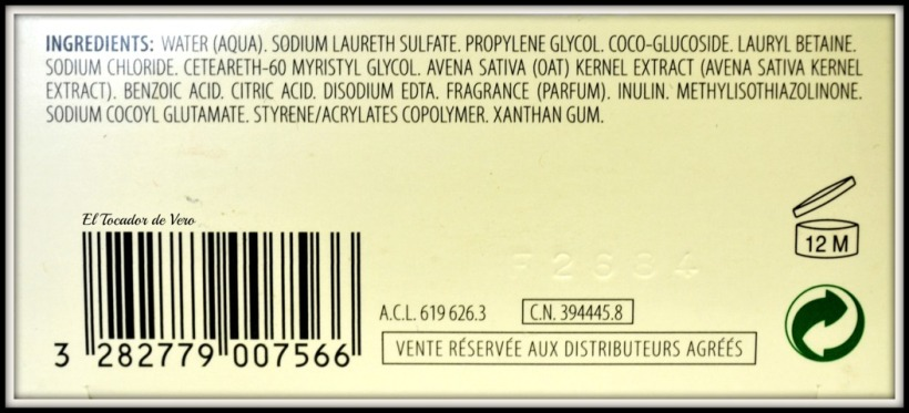 champu-extrasuave-leche-avena-klorane-ingredientes eltocadordevero
