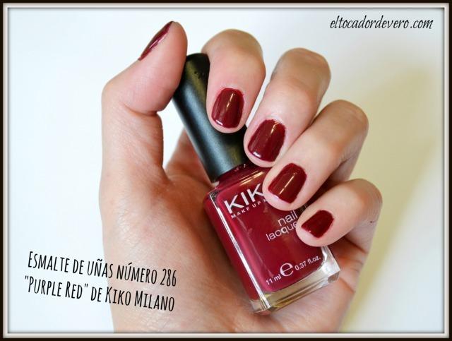 Esmalte-286-Purple-Red-Kiko-Milano eltocadordevero