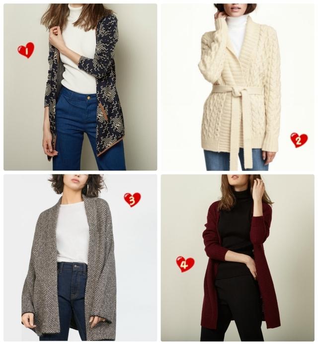 collage-chaquetas-punto-wishlist-rebajas-enero-2016 eltocadordevero