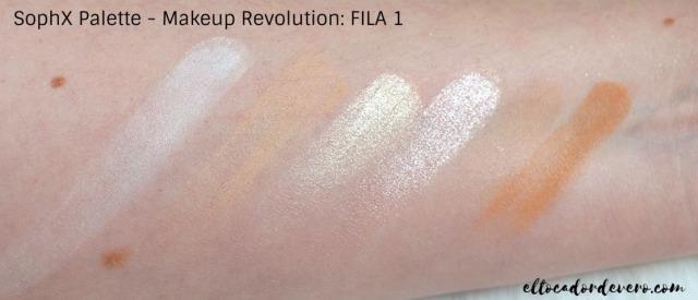 SophX Palette - Makeup Revolution_ FILA 1 eltocadordevero
