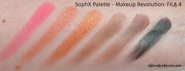 SophX Palette - Makeup Revolution_ FILA 4 eltocadordevero